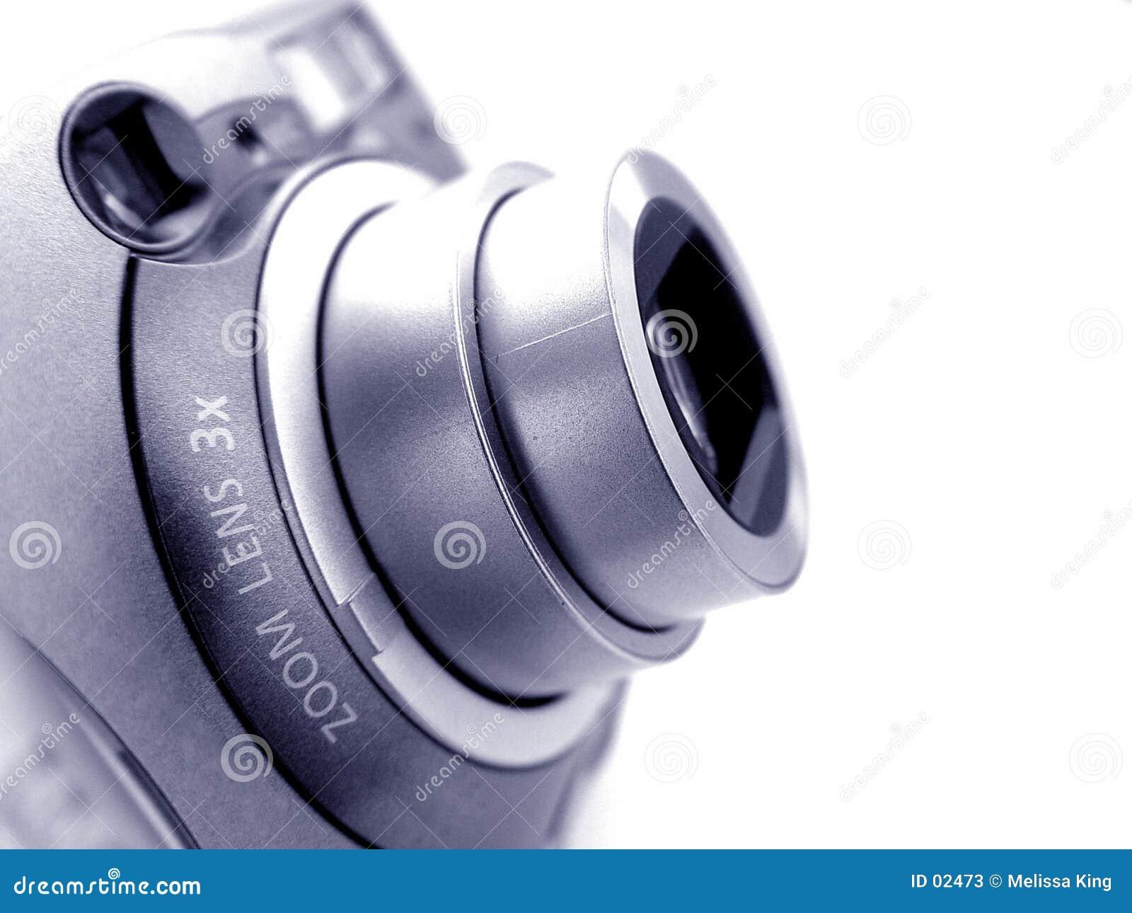 Macchina fotografica con lo zoom Len
