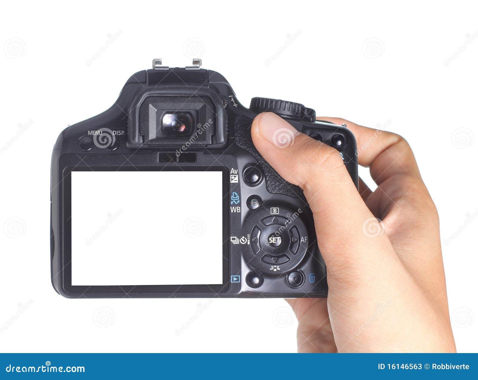 Macchina fotografica della holding della mano