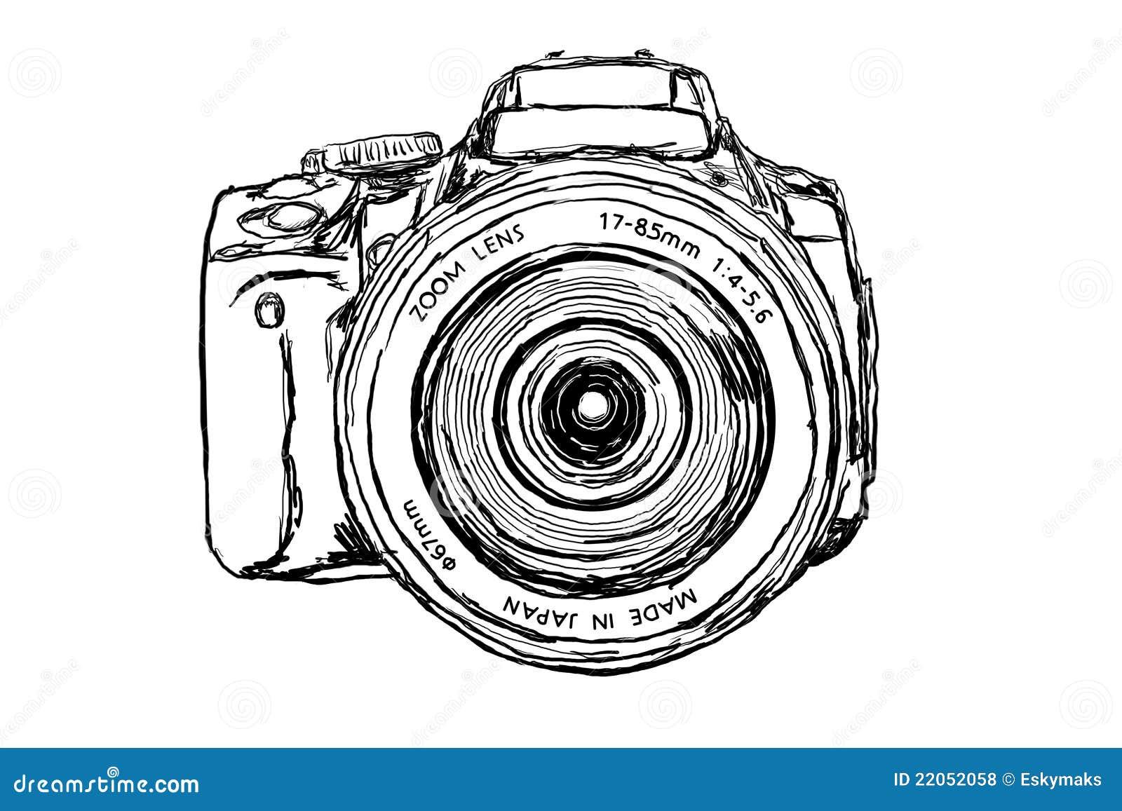 Macchina fotografica di DSLR - vista frontale
