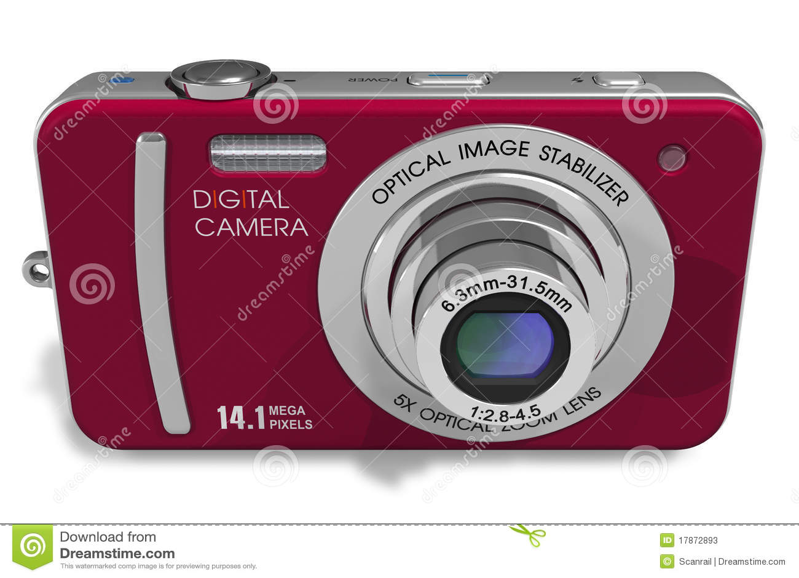 Macchina fotografica digitale compatta rossa fotografie for Macchina fotografica compatta
