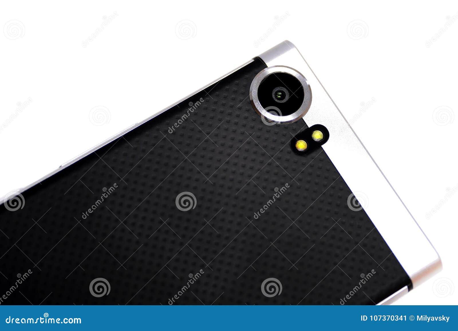 Macchina fotografica, metallo e gomma di Smartphone