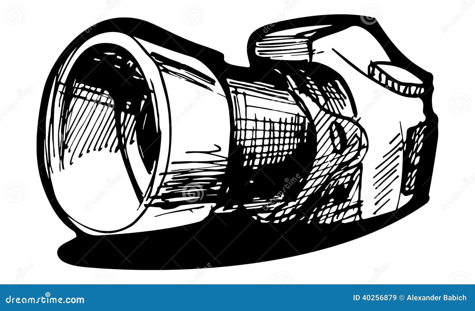 Macchina fotografica reflex illustrazione vettoriale for Immagini vector