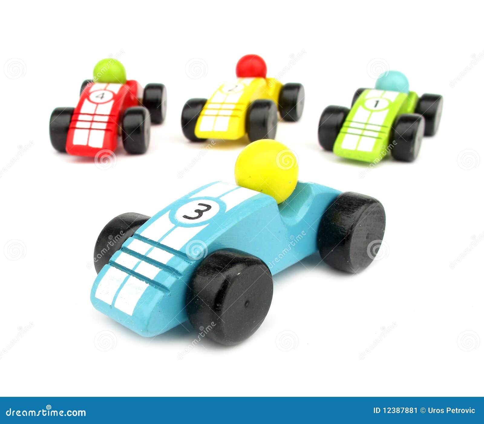Toy Car Holder Truck : Macchine da corsa di legno dei giocattoli immagine stock