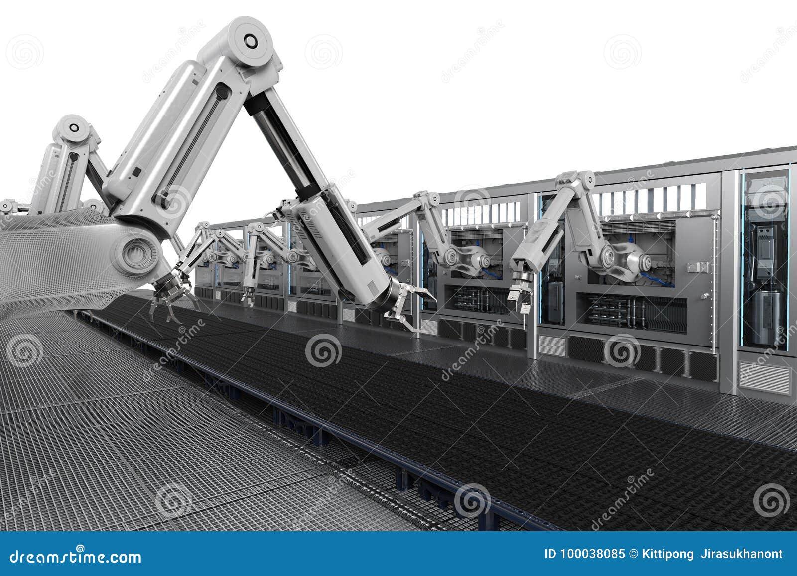 Macchine robot con la linea del trasportatore