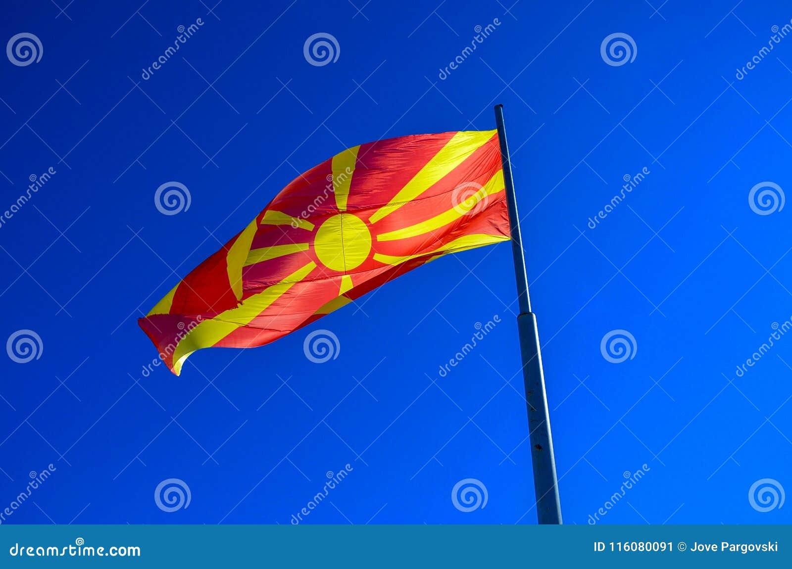 Macedoński chorągwiany falowanie