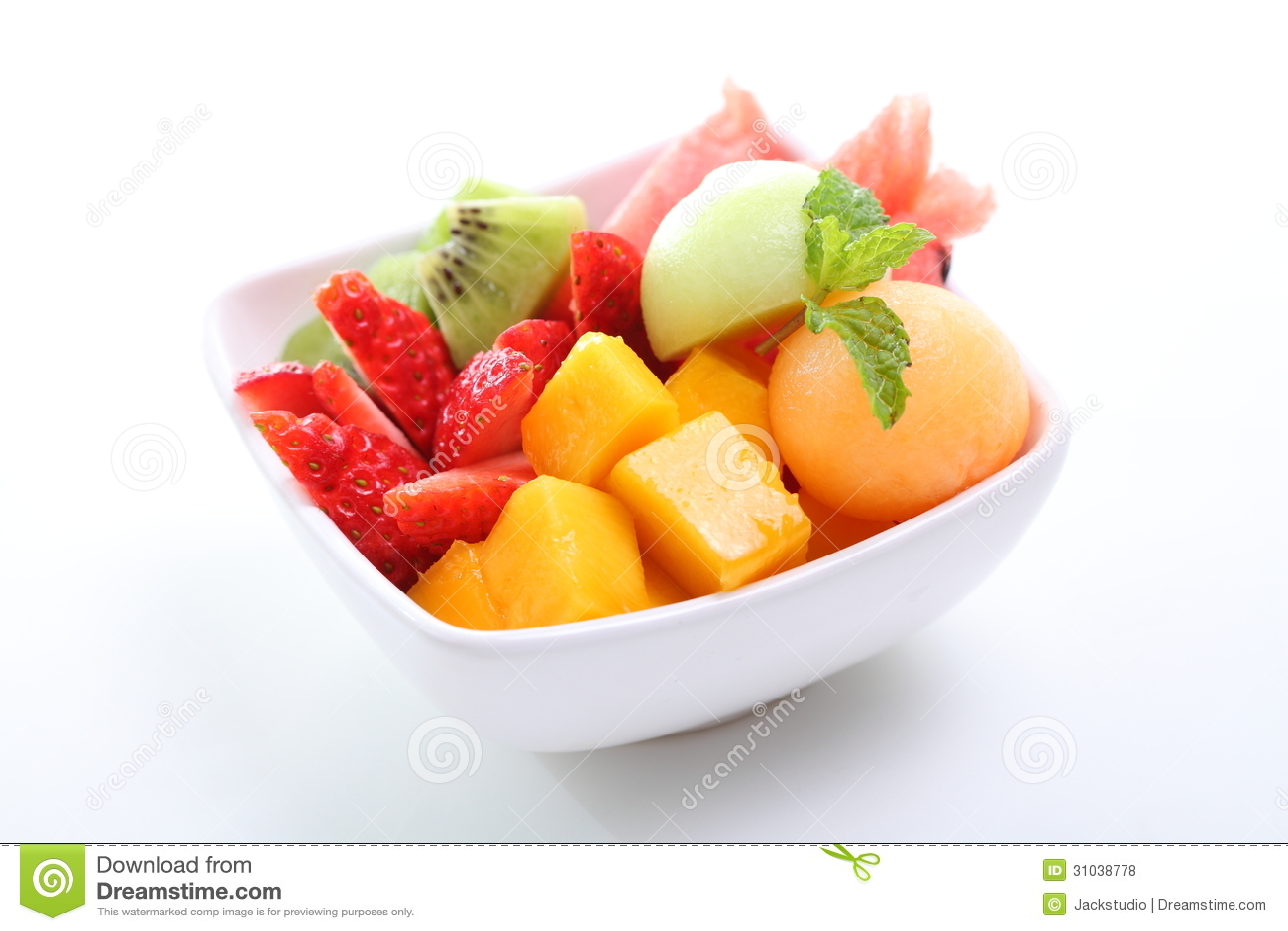 Macedonia Di Frutta Fresca Fotografia Stock. Immagine Di