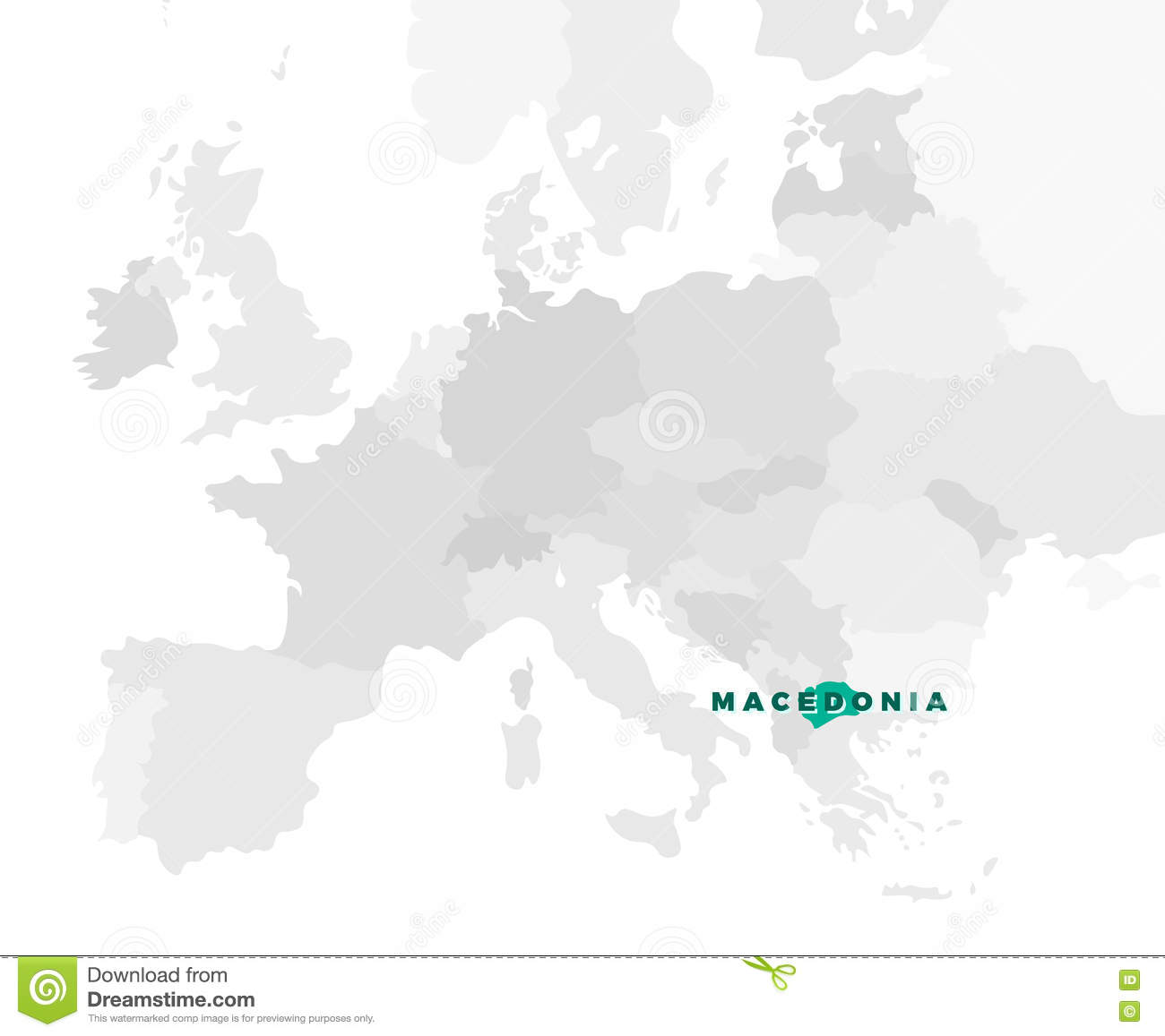 Macedonia Location Map stock vector Illustration of graphic 73078775