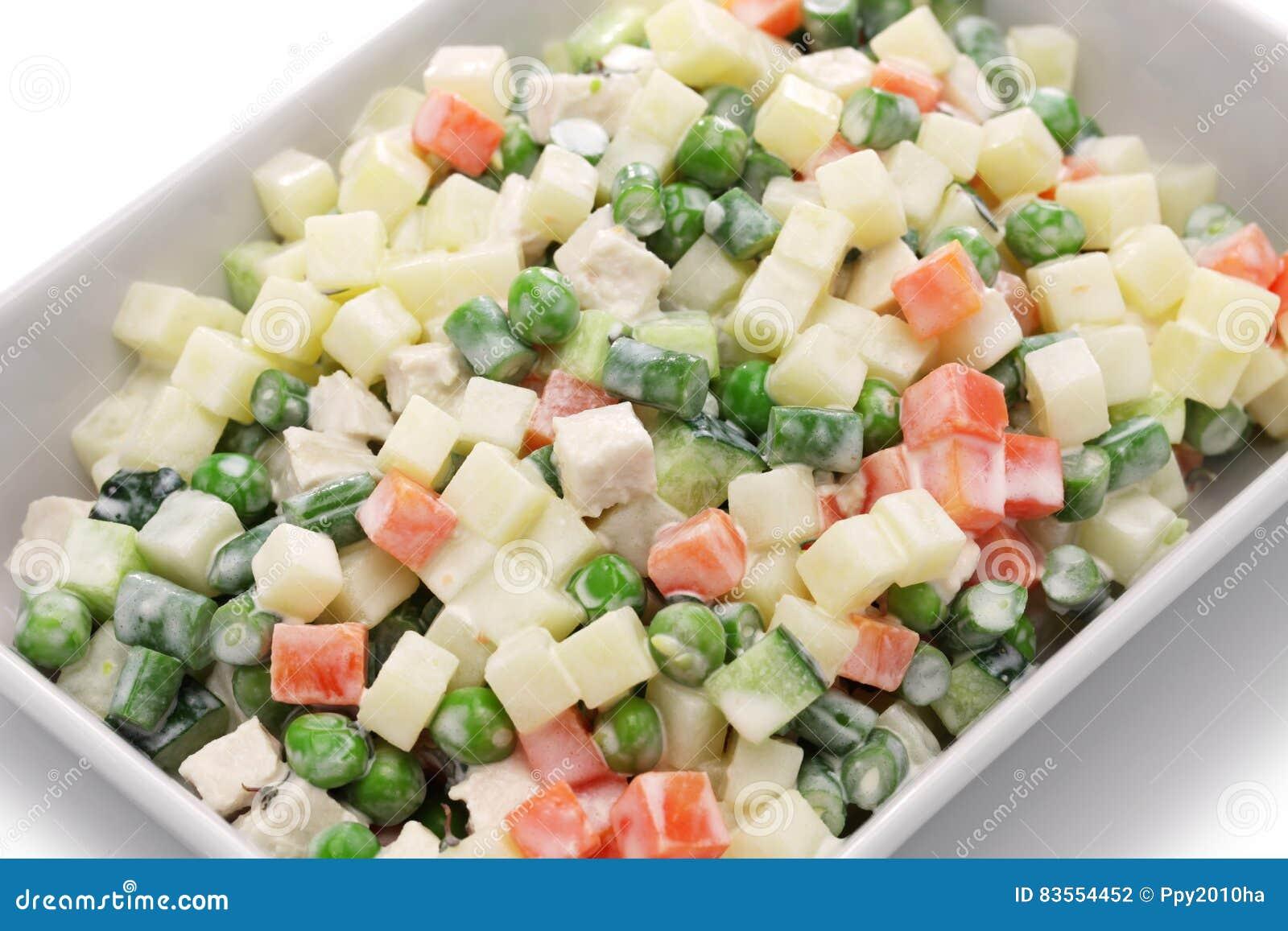 Macedonia salad, macedoine de legumes, mixed vegetable salad