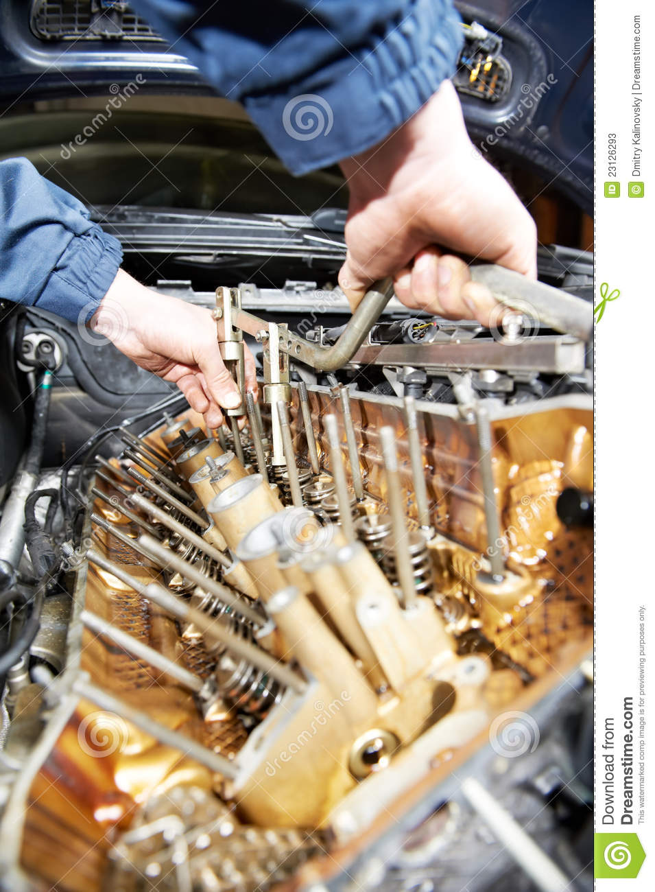 Machanic Repairman At Automobile Car Engine Repair Stock Photos Image 23126293