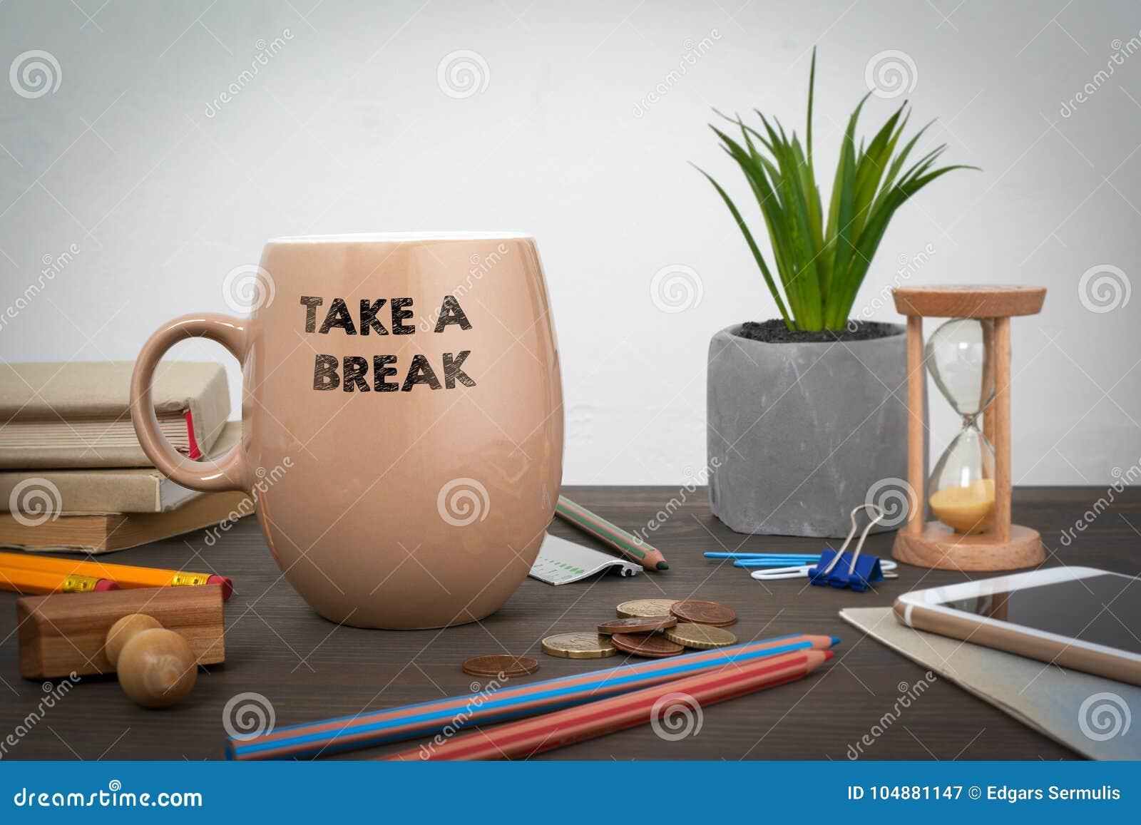 Machen Sie eine Pause Geschäft und ein Erfolgshintergrund