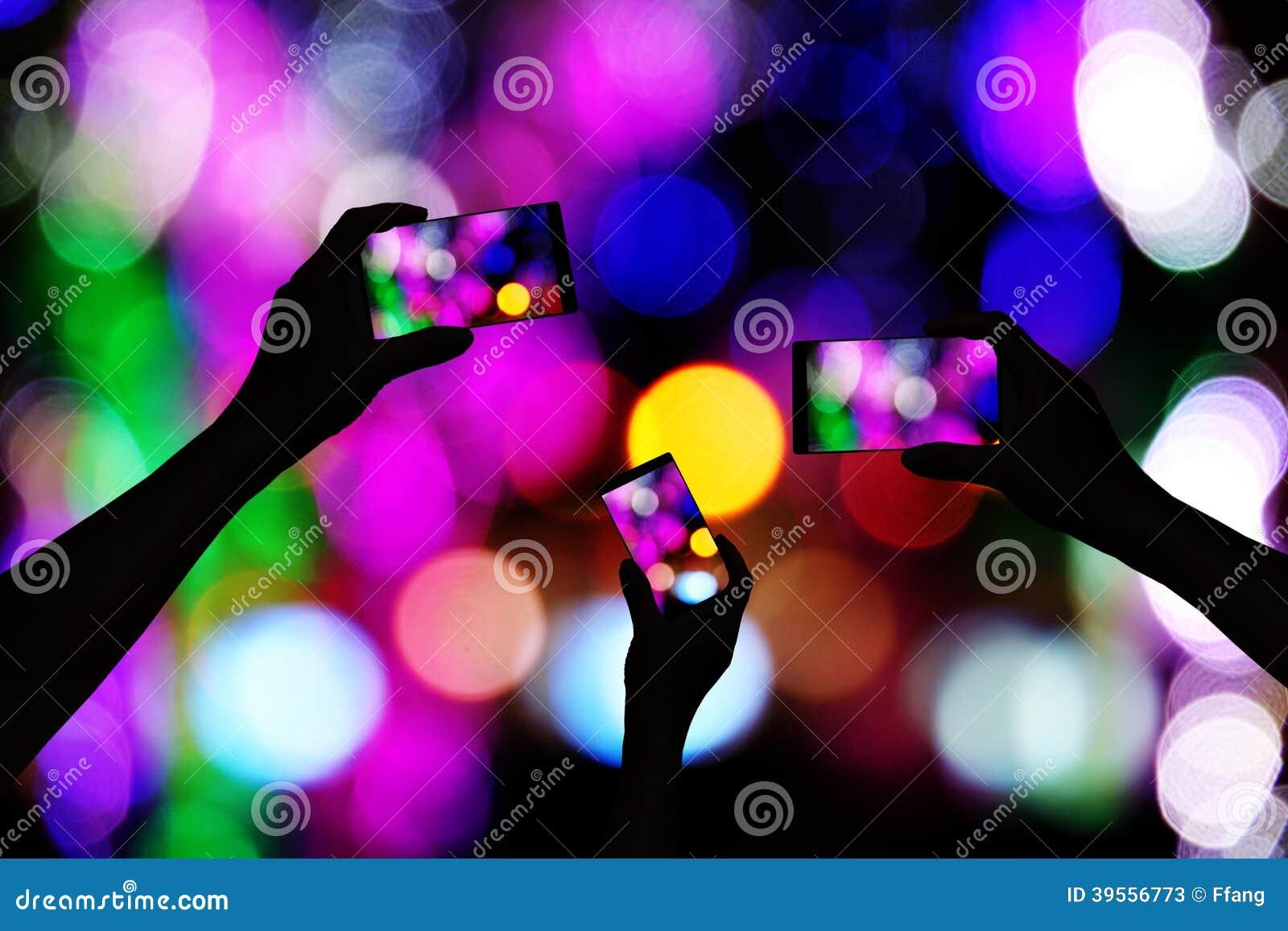 Machen Sie Fotos des Neons