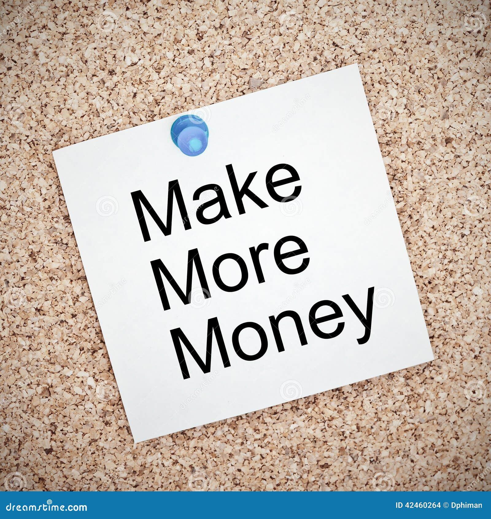 Machen Sie mehr Geldanmerkung