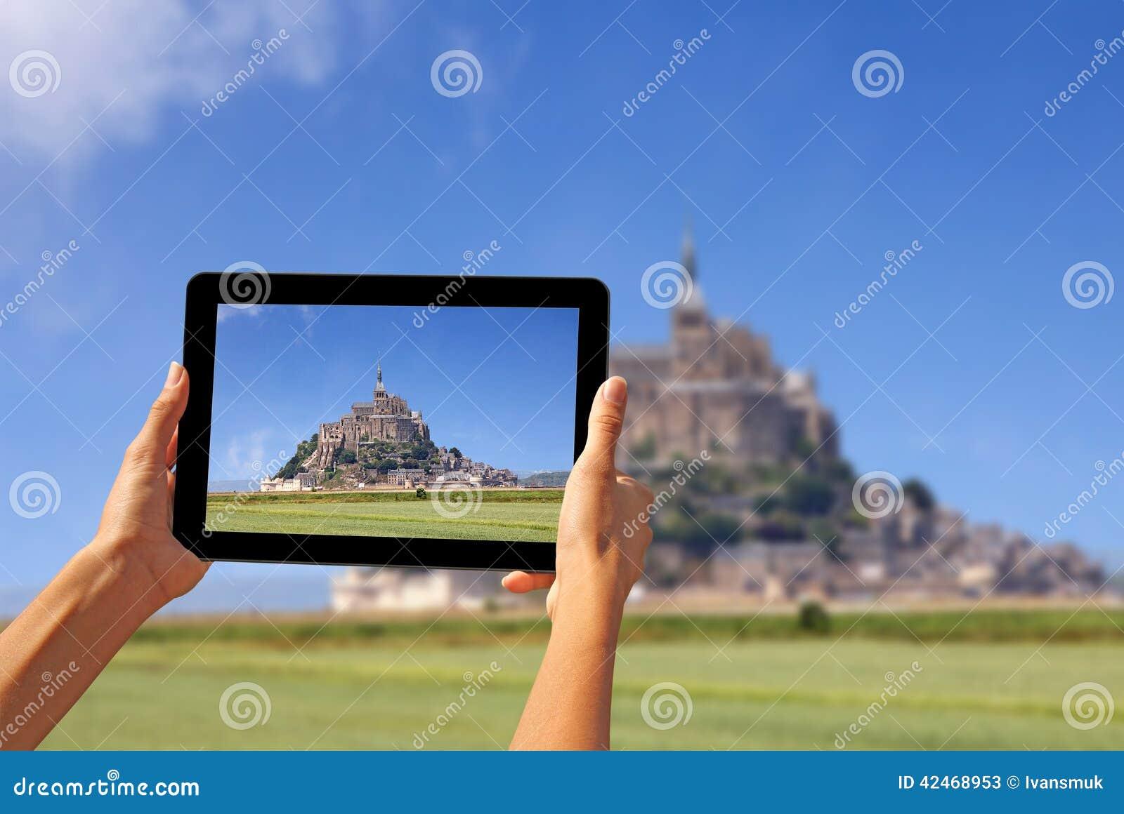 Machen von Fotos auf einer Tablette