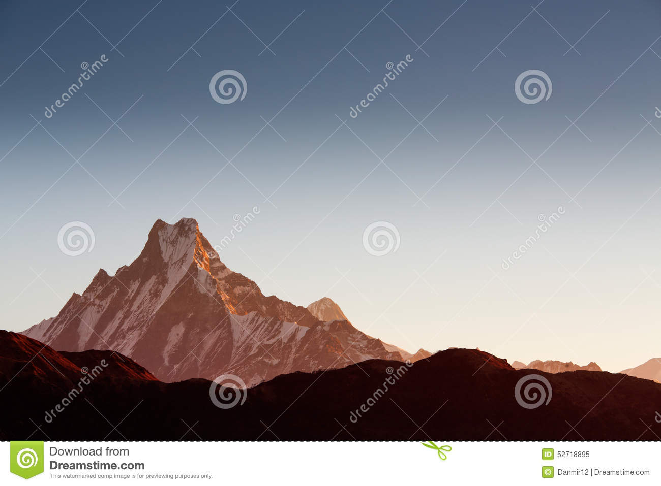 Machhapuchchhre mountain - Fish Tail in English is a mountain in