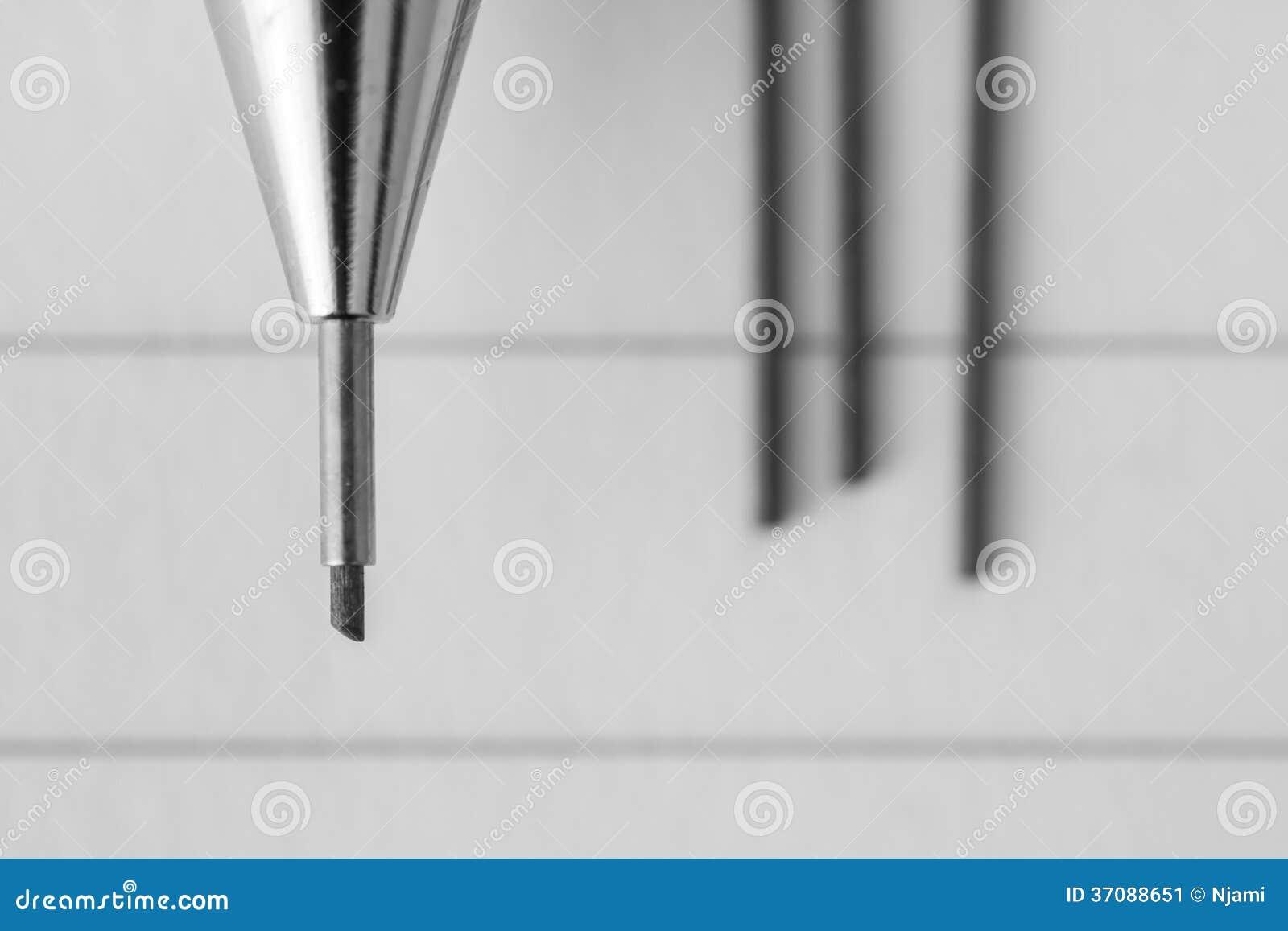 Download Machinalny ołówek obraz stock. Obraz złożonej z plama - 37088651