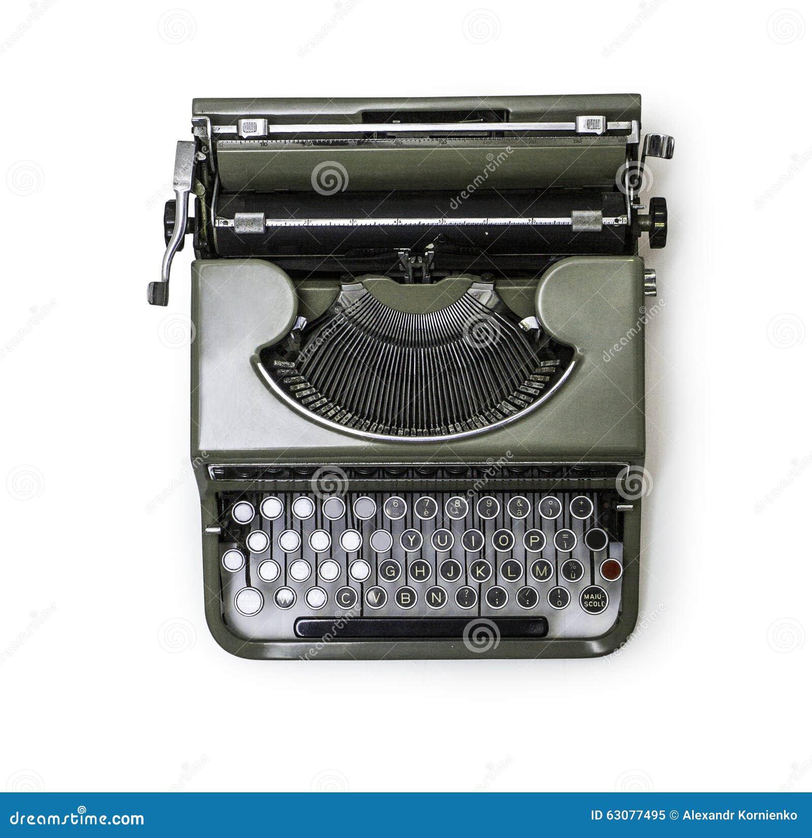 Download Machine à écrire antique image stock. Image du journaliste - 63077495