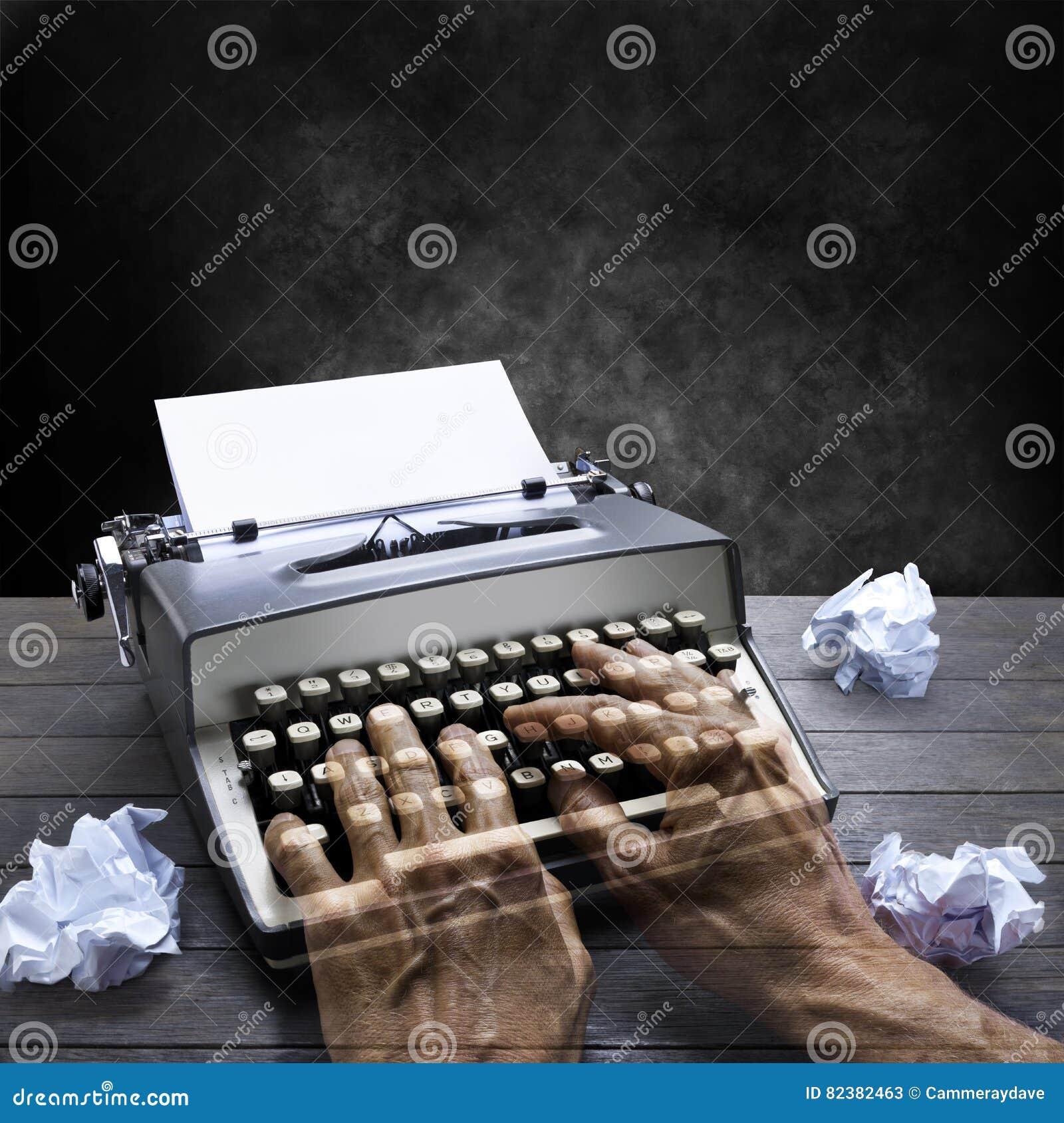 Machine à écrire auteur Hands Business