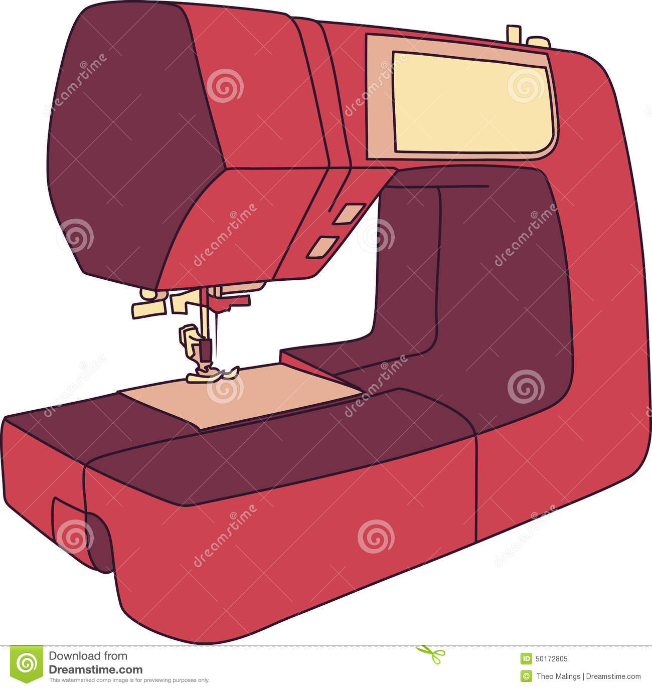 Machine coudre de bande dessin e illustration de vecteur - Machine a coudre dessin ...
