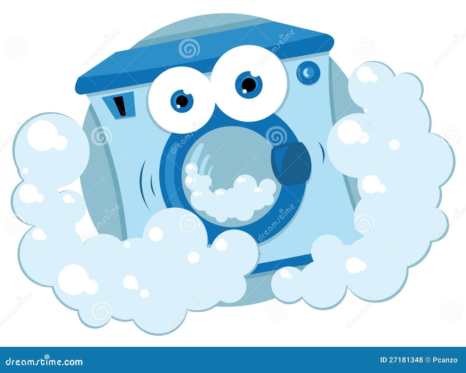Machine laver amicale photos libres de droits image - Laver des rideaux en machine ...