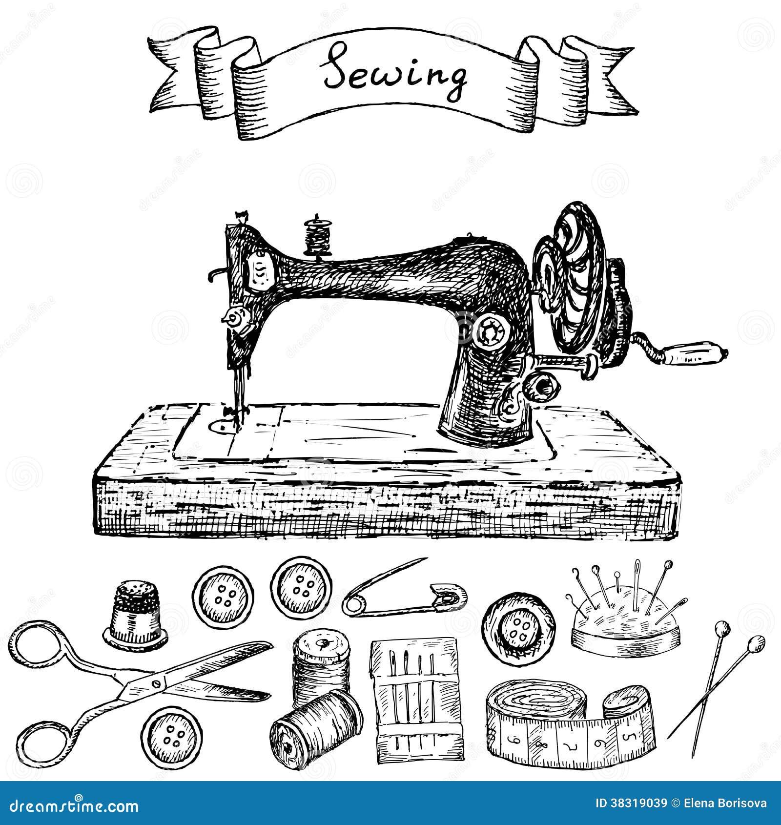 Machine coudre images libres de droits image 38319039 for Machine a coudre nature et decouverte