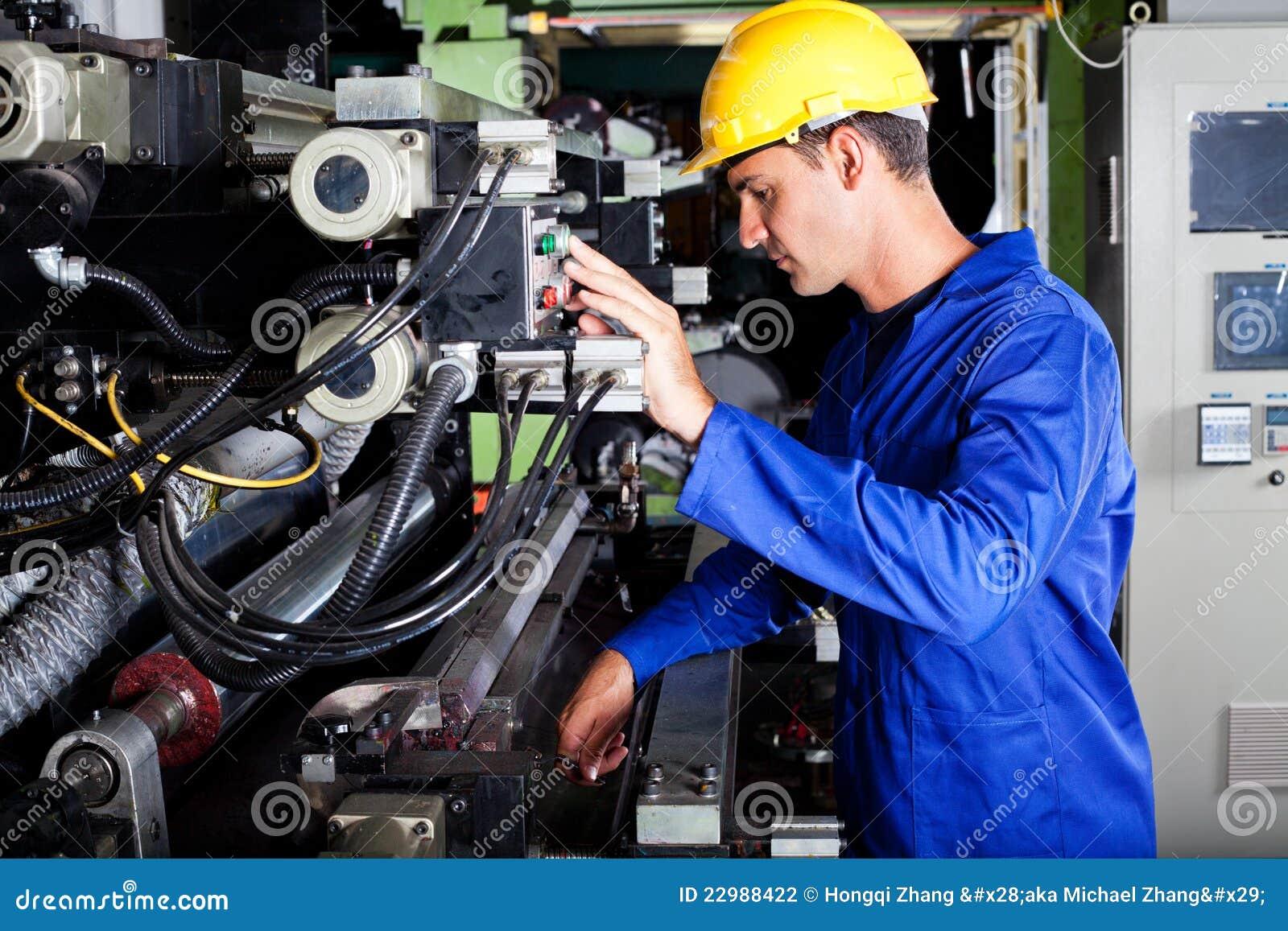 machine operating