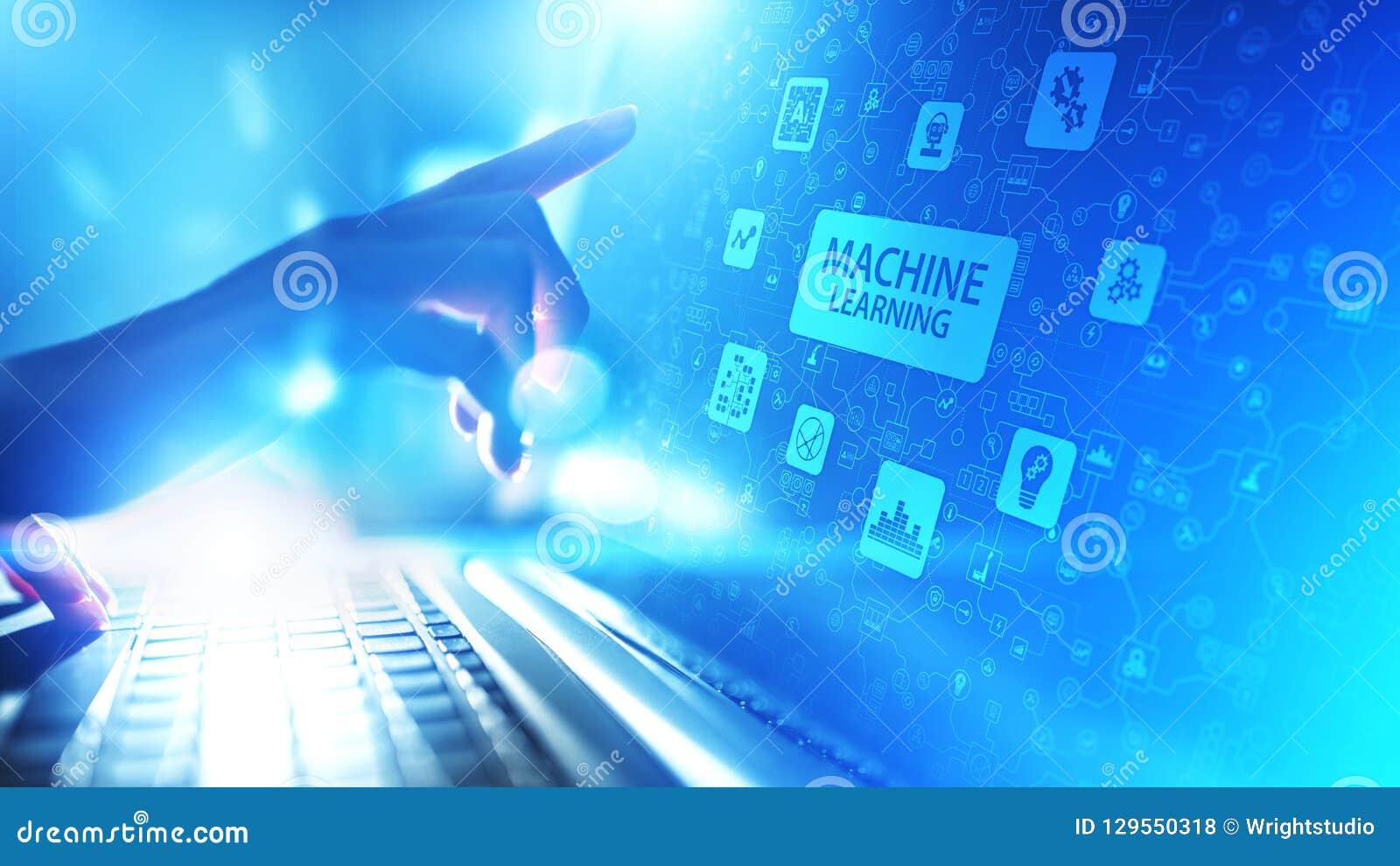Machine Diepe het leren algoritmen, Kunstmatige intelligentie AI, Automatisering en moderne technologie in zaken als concept