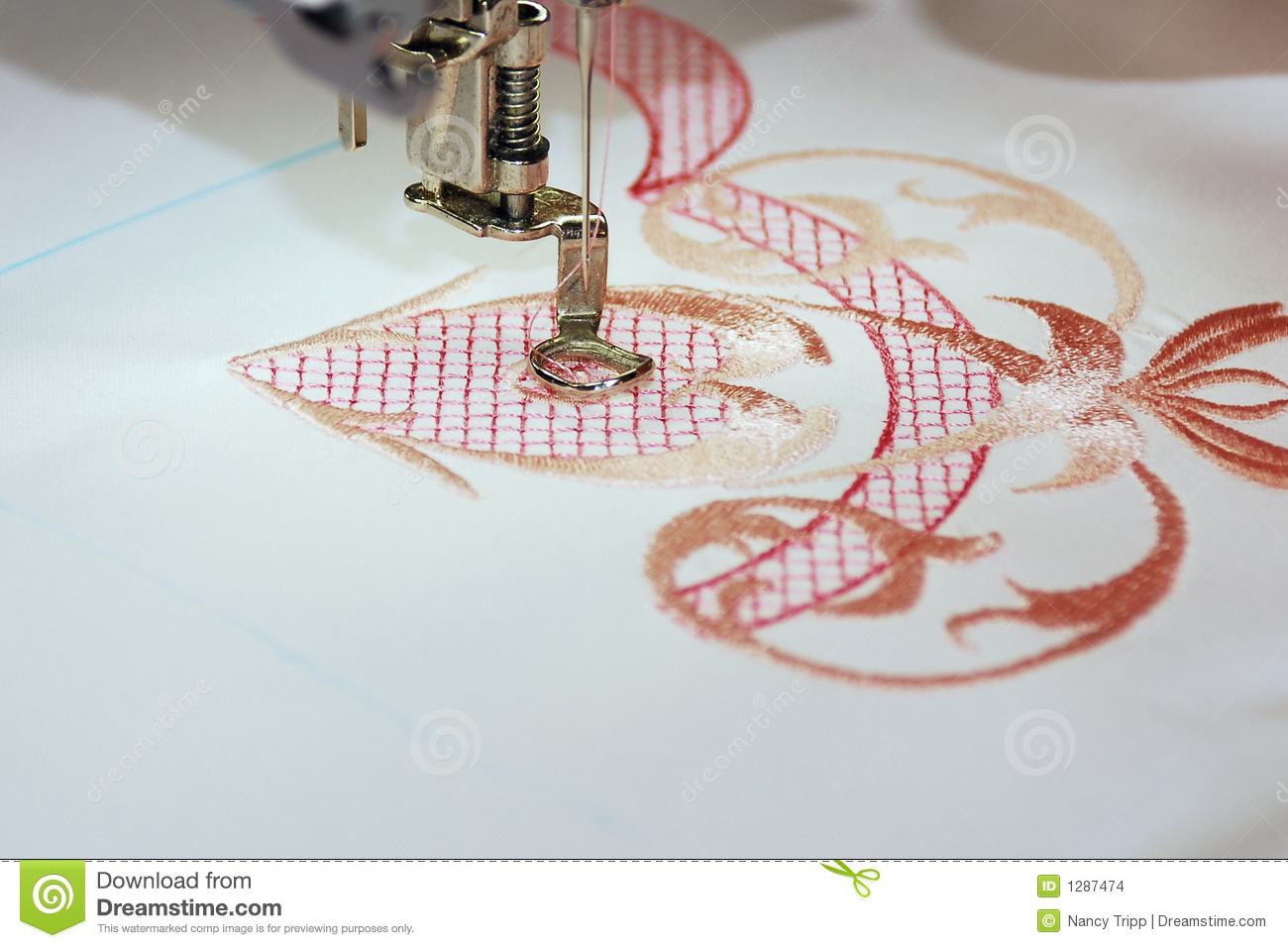 Machine embroidery stock photo image of pastime texture