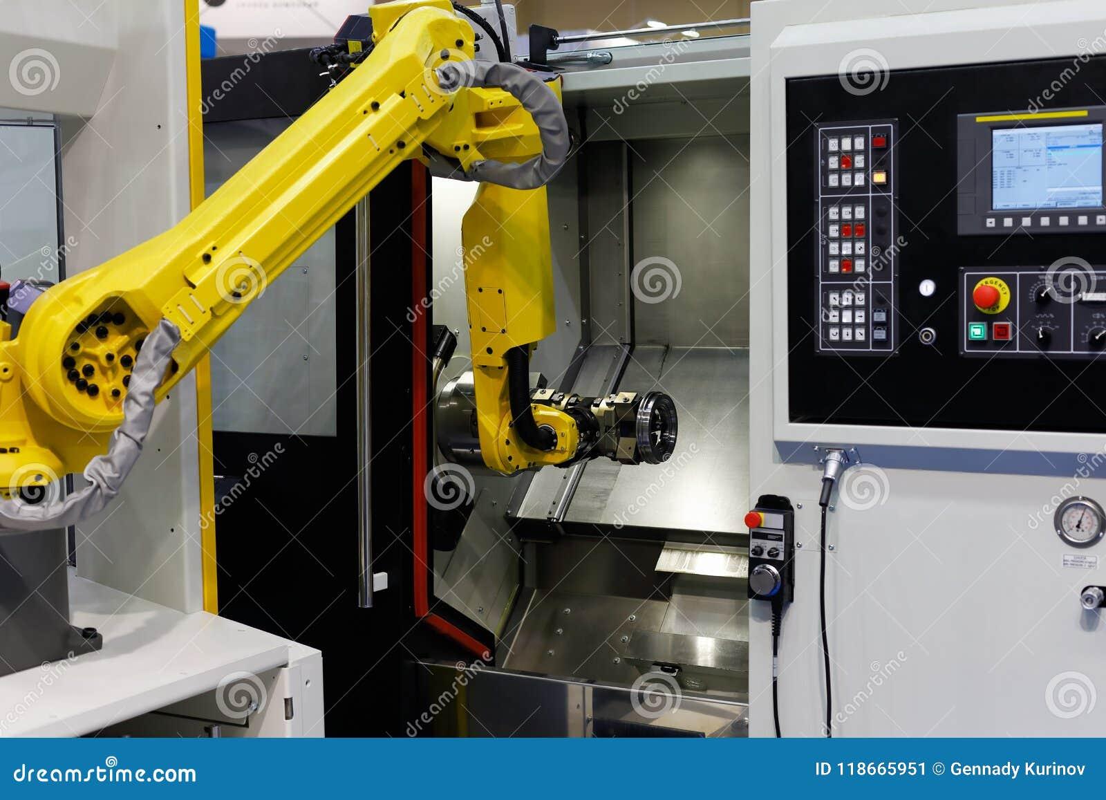 Machine et robot de tour de commande numérique par ordinateur