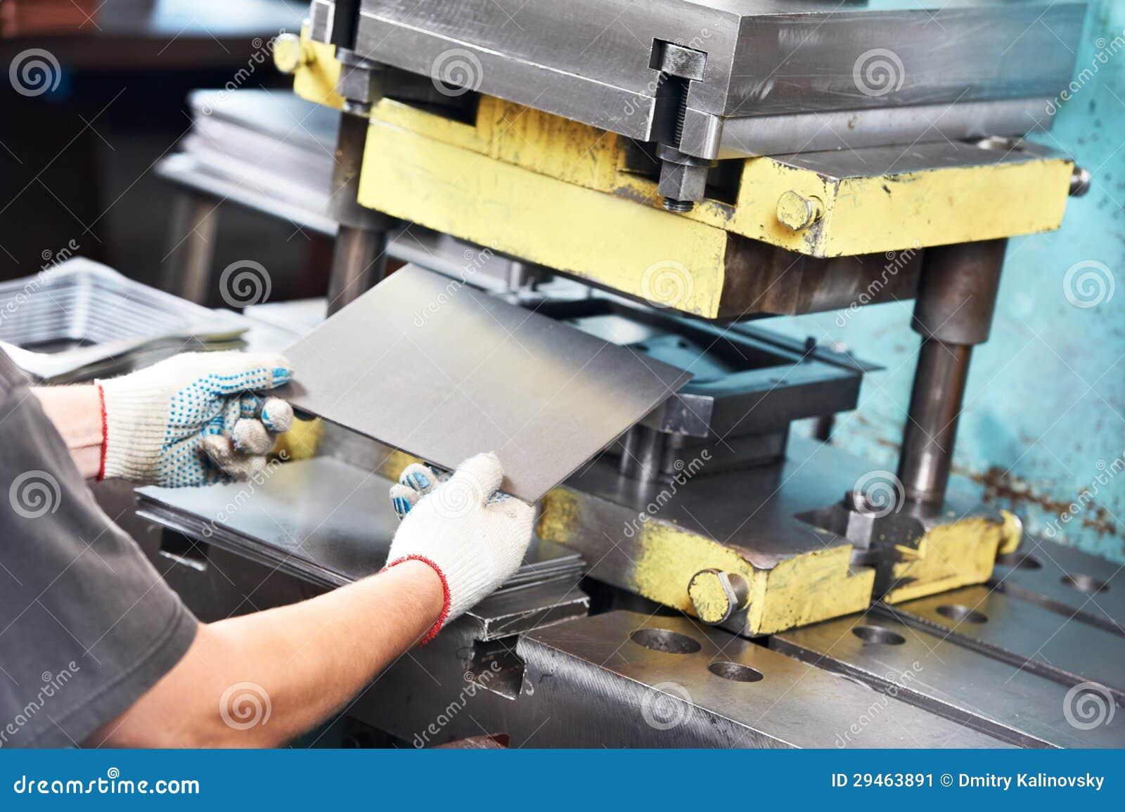 Machine fonctionnante de presse de feuillard de travailleur