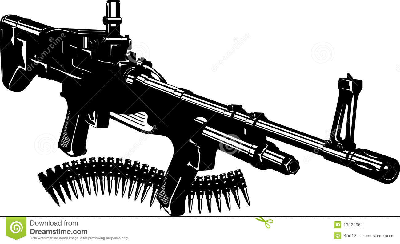 black machine gun