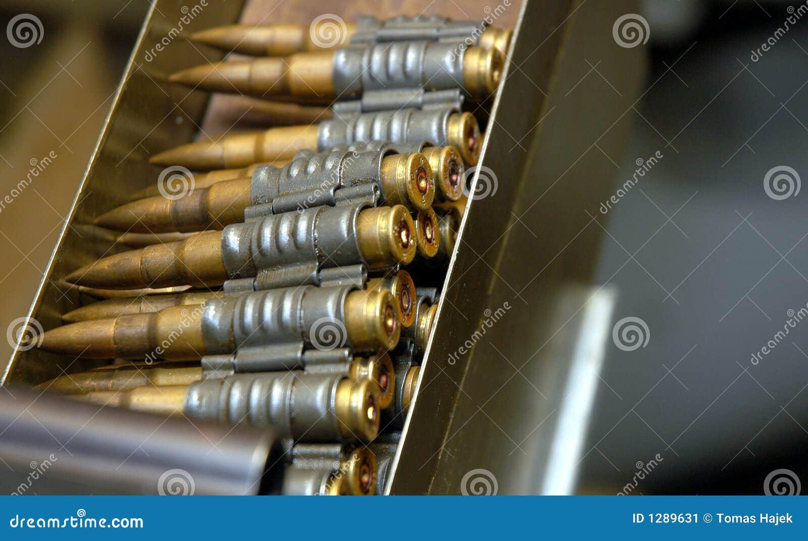 machine guns bullets
