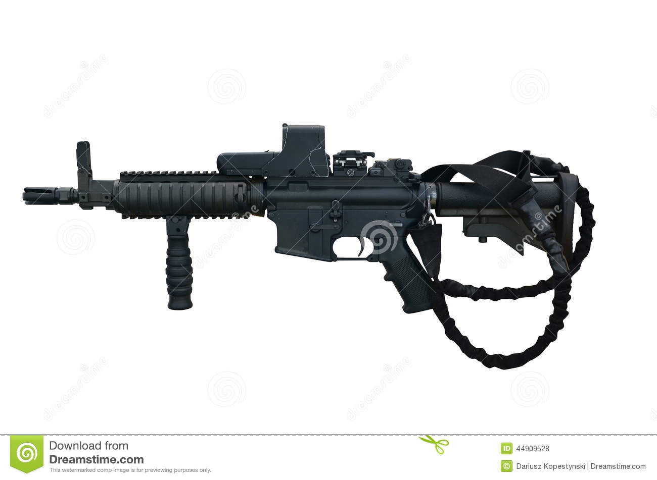 Canadian military machine gun C8 CQB 5,56 mm with holographic weapon ...