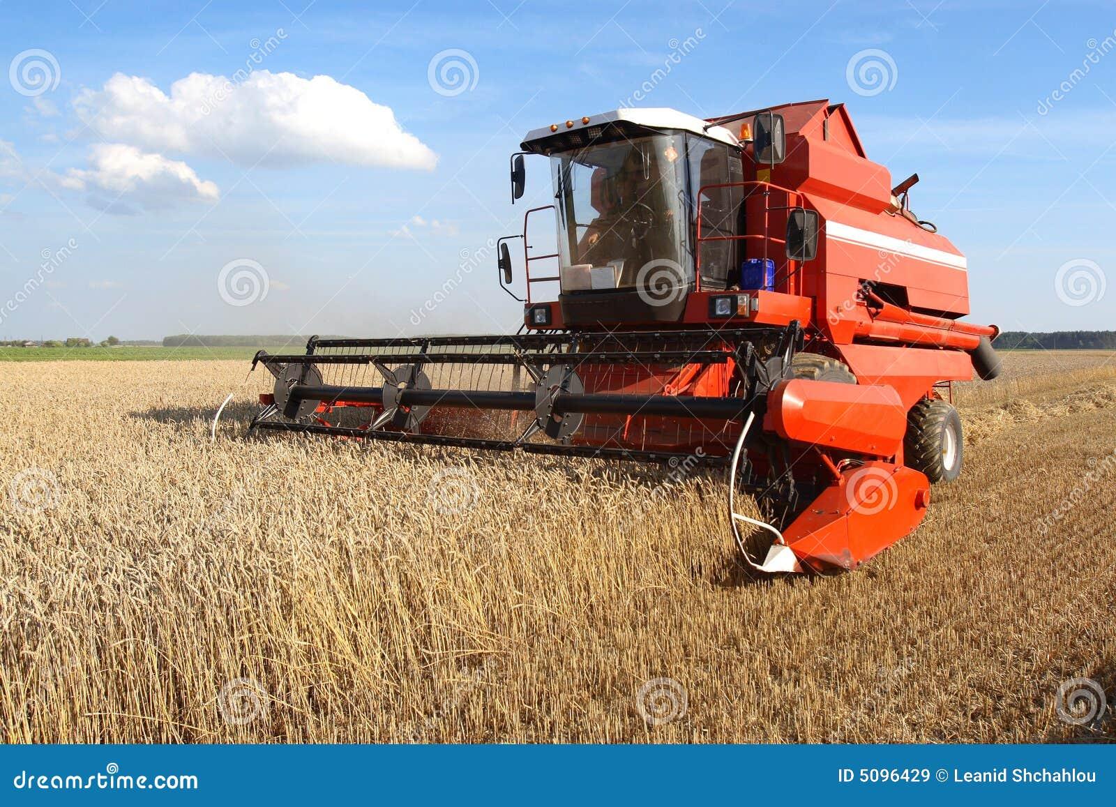 Machine Harvesting Stock Image Image Of Drum Rural