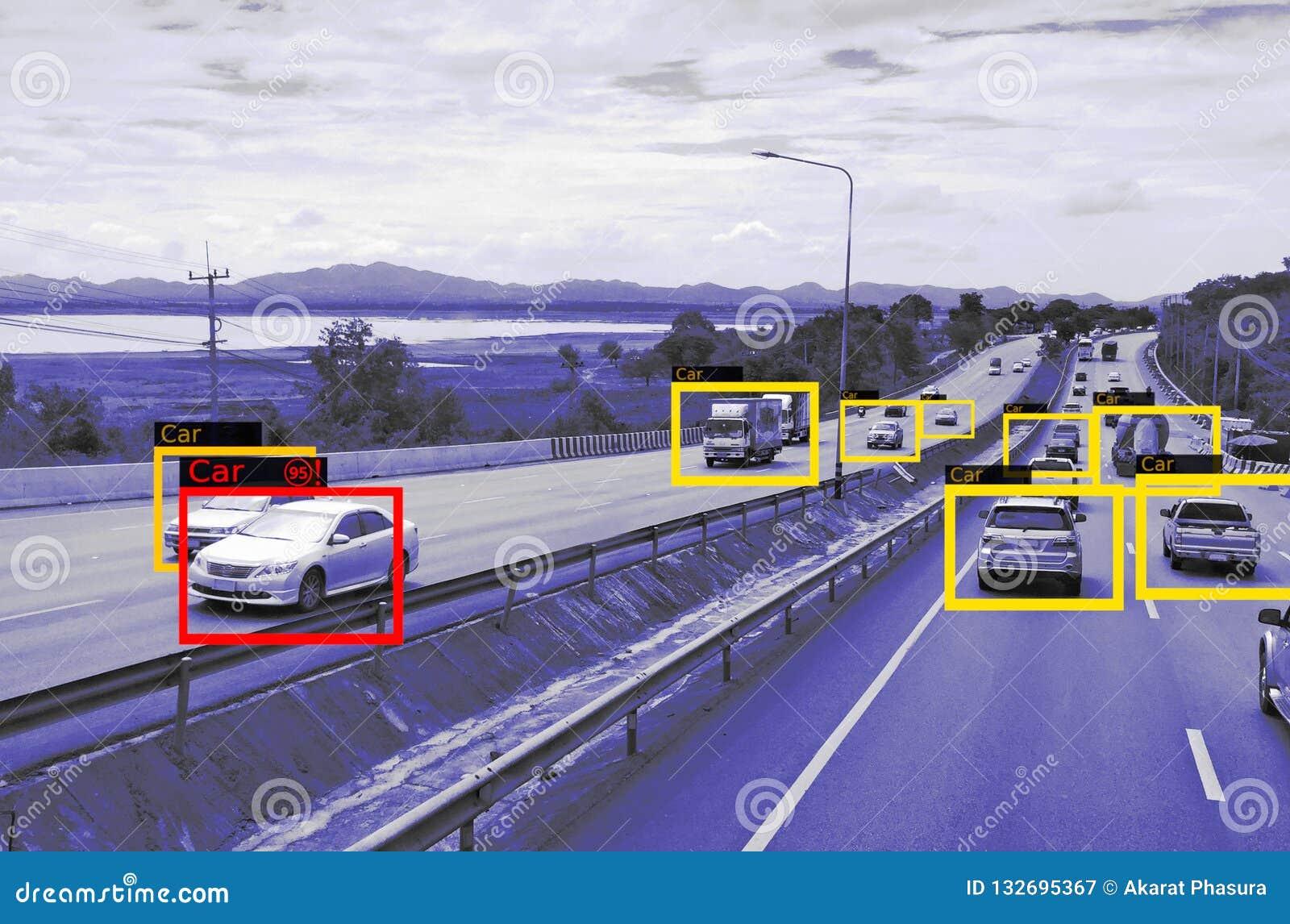 Machine het Leren en AI om Objecten technologie, Kunstmatige intelligentieconcept te identificeren Beeldverwerking, Erkenning