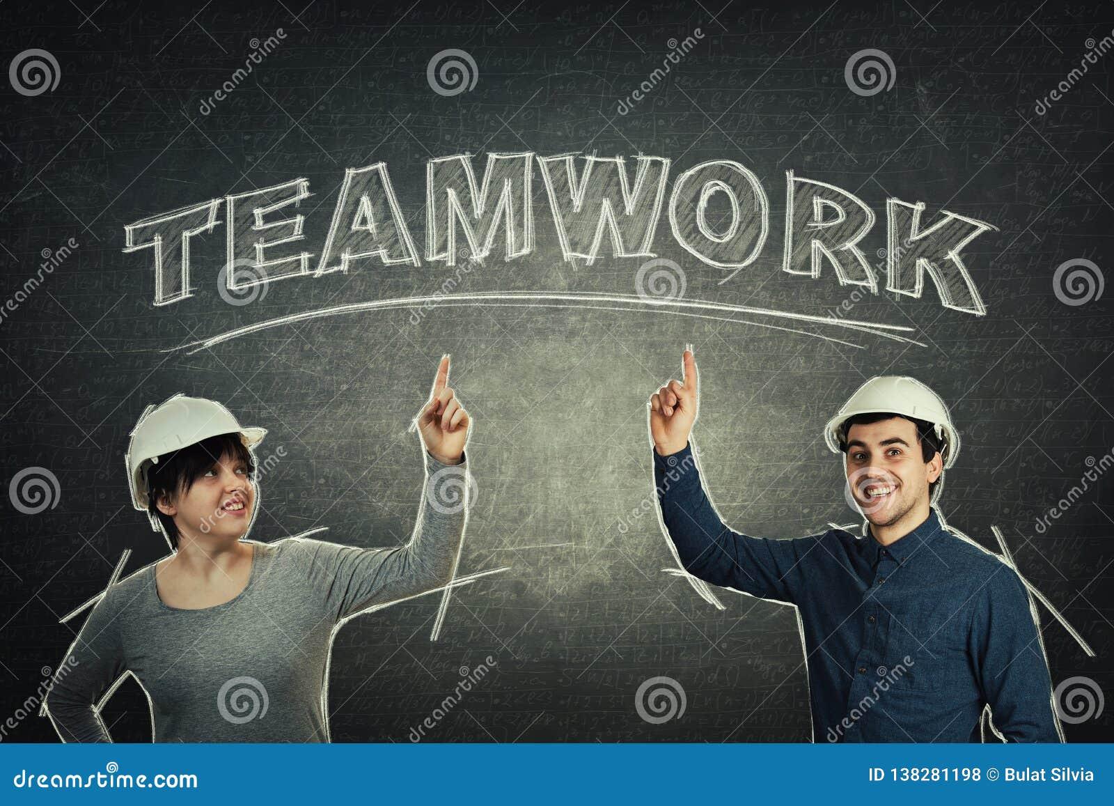 Machine le concept de travail d équipe