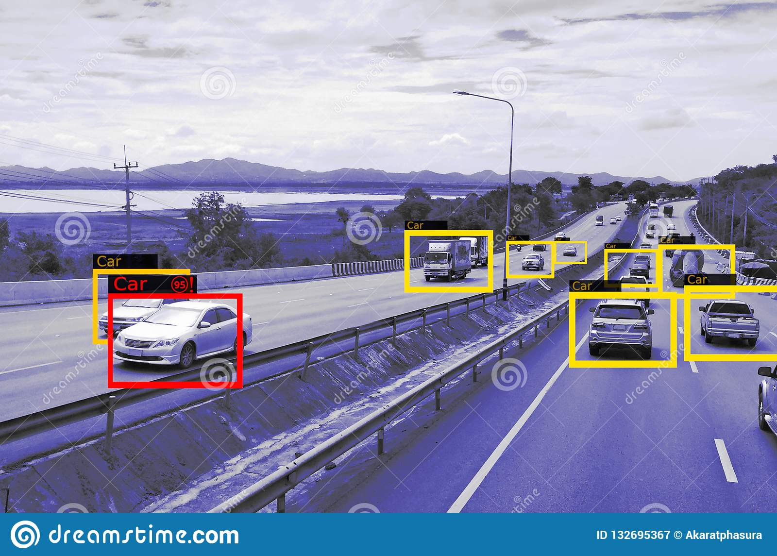 Machine Learning and AI to Identify Objects technology, Artificial intelligence concept. Image processing, Recognition