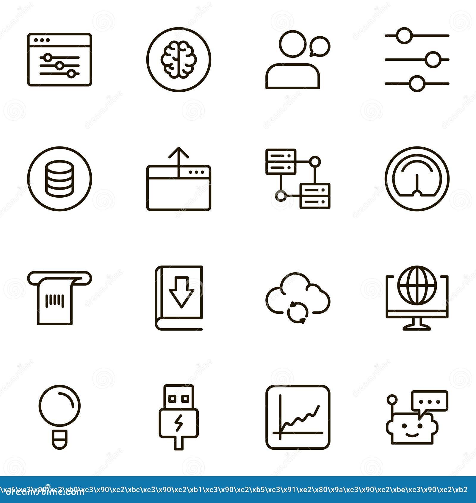Machine Learning Stock Vector Illustration Of Innovation 104219956