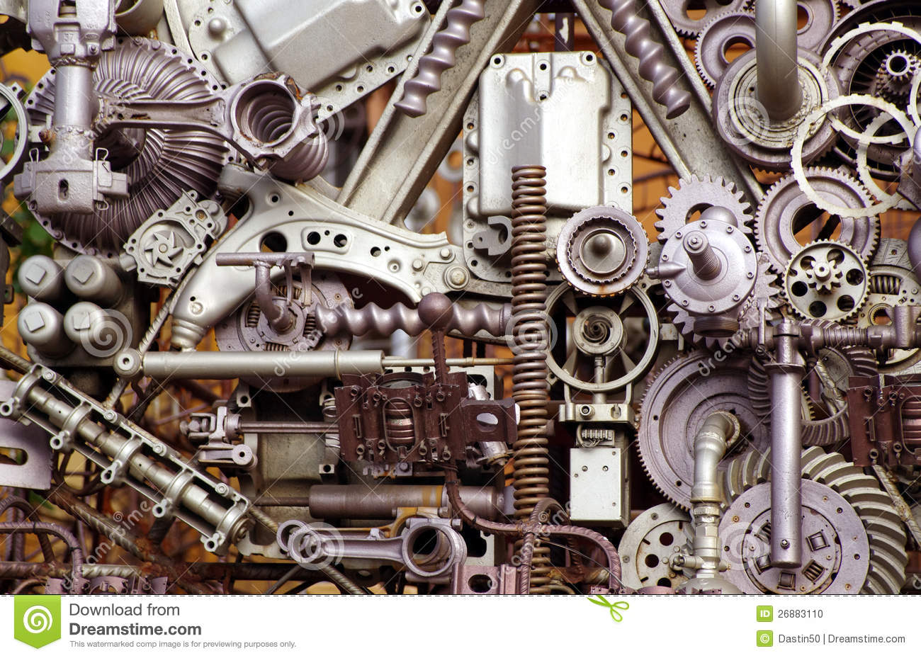 Machine Parts And Pieces Stock Photo - Image: 26883110