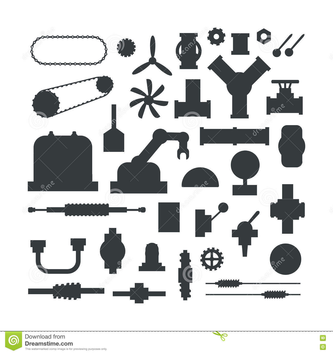 Tractor Parts Icon : Machine parts vector illustration stock