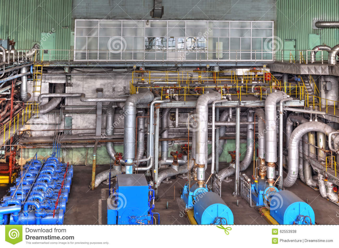 power plant generators. Download Machine Room In Thermal Power Plant With Generators And Turbines Stock Photo - Image Of
