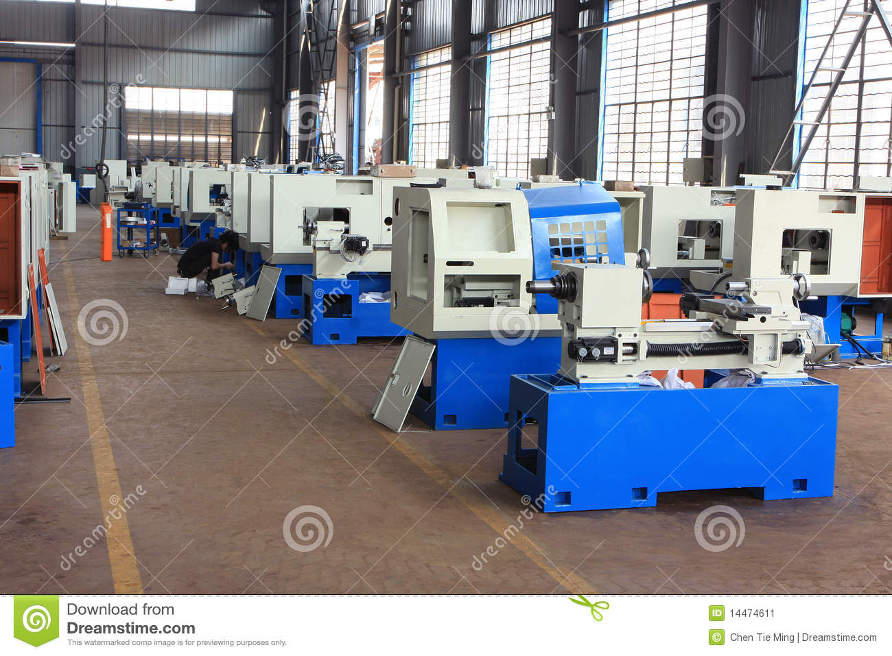 Machine tool factory product assembly workshop
