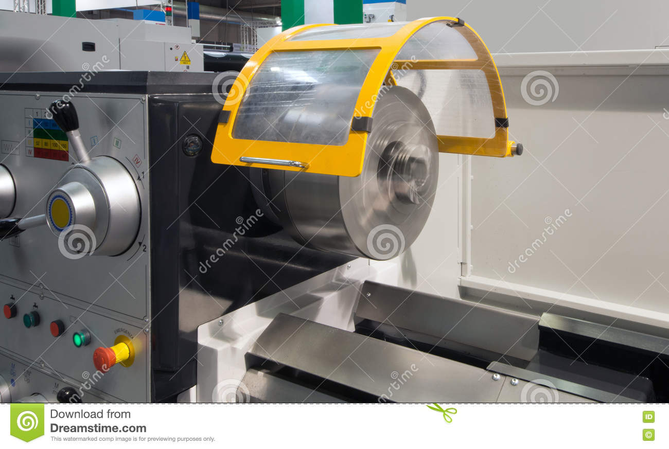 Machine Tools With Computer Numerical Control (CNC) Stock Image
