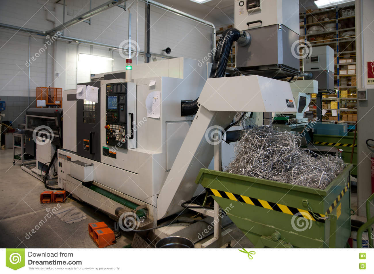 Machine Tools With Computer Numerical Control (CNC) Stock Photo
