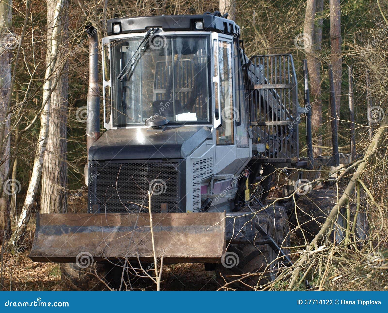Machine for wood transport