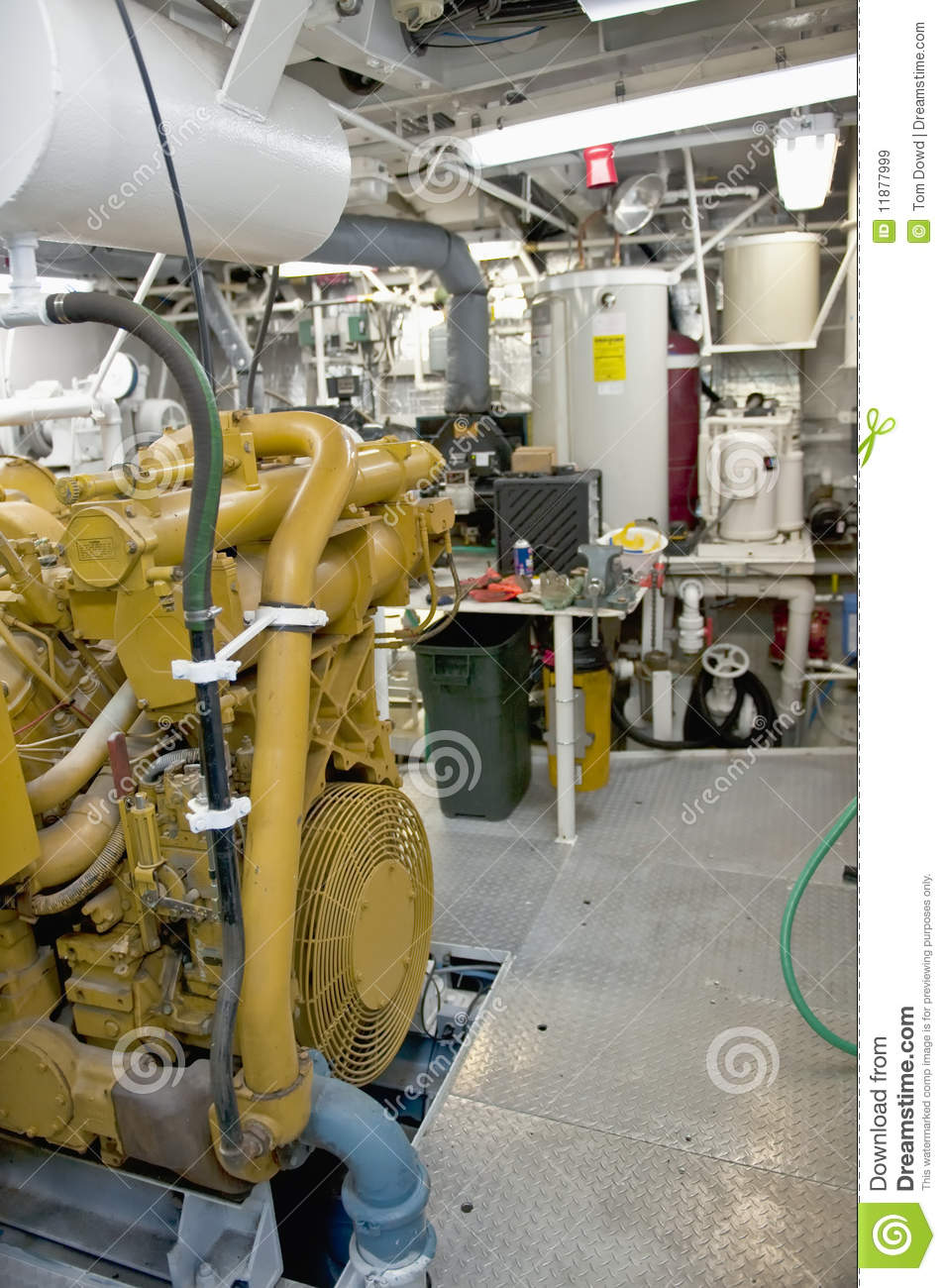Spaceship Engine Room: Machinery In Ship Engine Room Stock Image