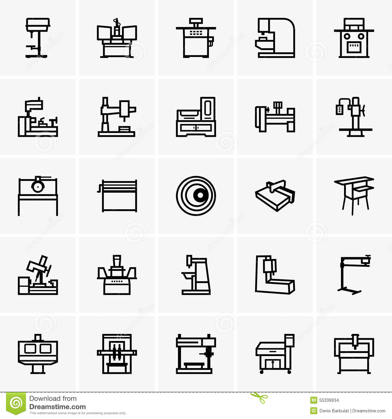 machines outils illustration de vecteur illustration du objet 55339934. Black Bedroom Furniture Sets. Home Design Ideas