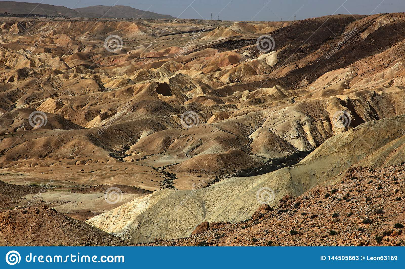 Machtesh Ramon - erosion crater in the Negev desert, the most picturesque natural landmark of Israel