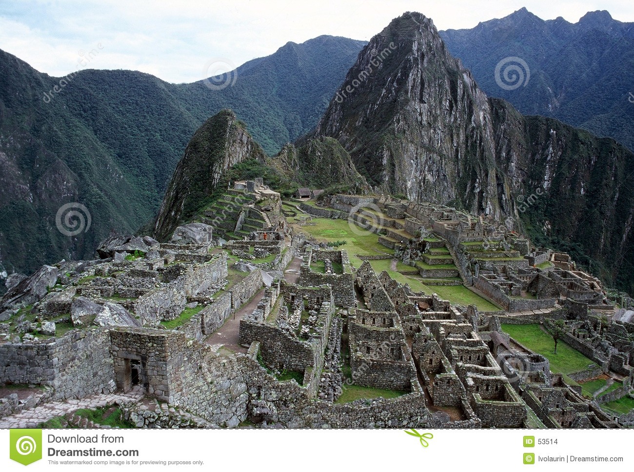 Download Machu Picchu photo stock. Image du côtes, terrasse, antique - 53514