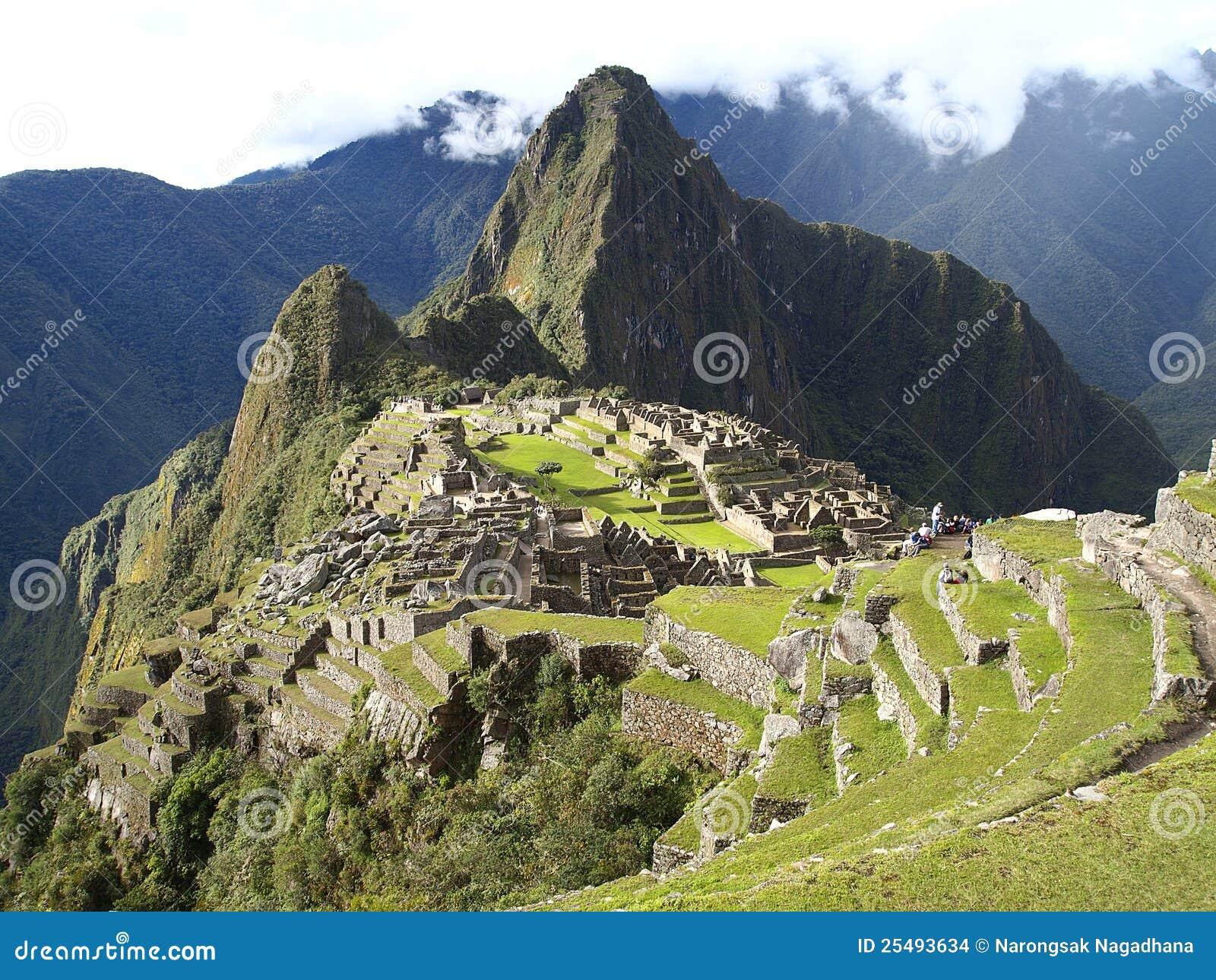 Machu Picchu, the ancient inca city of Peru