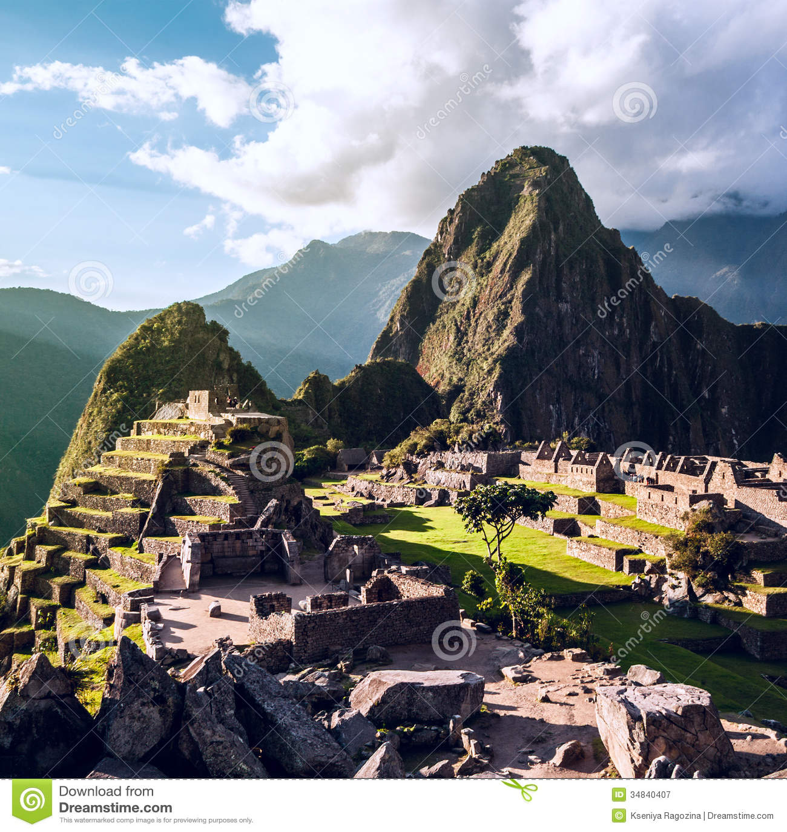 Machu Picchu Andes Peru Stock Image Image Of Exterior